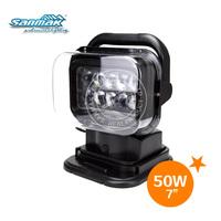 Marine 5W led spotlight, auto car LED spot lights cree 50W remote control spot light 12v