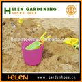 Brilhante e colorido baldes baldes de plástico banheira flexi, jardim balde balde de areia de praia jogar