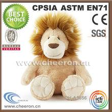 Beady-eyed custom sitting lion life like stuffed animals