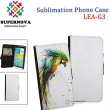 Custom Mobile Phone Leather Case for LG G3