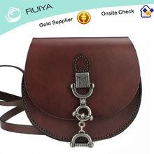 The unique half round shape Hardness leather Should style handbag retro design-JC91102