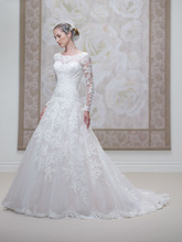 Elegant lace mermaid high neck v open back long sleeve wedding dresses