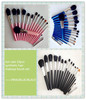 black/pink/blue 15pcs synthetic cosmetic make up brush set
