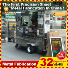 customized made metal street trailer mobile hot dog cart for sale