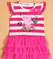 Peppa pig abbigliamento moda, bambino vestito design, abito per ragazza 5 anni