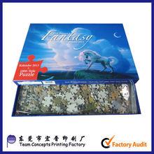 hot sale popular customize 1000pcs jigsaw puzzle