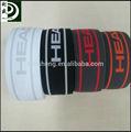 de color personalizado logo de jacquard elástico ropa interior