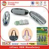 Self adhesive eletroplated plastic traceless hooks