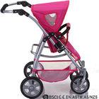 French style plush baby doll stroller 2-in-1 EN71 luxury style