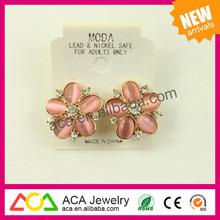 Wholesale fashion accessories 2014 noble elegant crystal rhinestone stud earrings