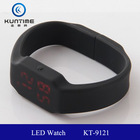 child watch colour silicone led watch KT-9121 white or red lights LED usb led watch usb flash drive
