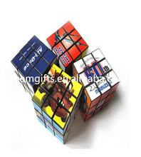 Promotional Plastic Magic Cube, Customized Printed magic cube, Foldable magic cube
