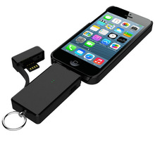 2014 Best Quality innovation MFi OEM power bank keychainwith flash memory&sync cable&cable for iphone Samsung/HTC/Nokia/etc