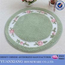 Fashion polyester round printed rug