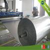 White plastic wrap insulation roll