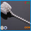 Factory wholesale cheap sew on silver rhinestone chain