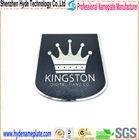 custom etching stainless steel emblem adhesive metal crown logo