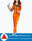 Latest Designer Womens Fashion Sweat Suit Hooded Orange Women Tracksuit