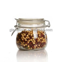 500ml Metal Clip Empty Glass Jar As Food Storage Preserving