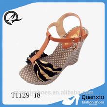 fashion 2014 italian leather sandals lady shoe