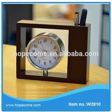 (W2810) Antique design wooden table clock