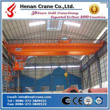 Double girder bridge material lifting crane