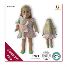 New arrival high end 18 inch american girl doll/pretty girl dolls/american girl doll model