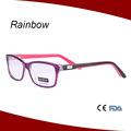 جديد أحمر أزياء نسائية نظارات الإطار خلات البصرية