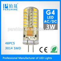2014 Household led g4,12V 3w AC/DC g4 led auto,g4 led car bulb
