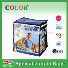 2014 Hot Selling Cooler Bag For Food, non woven pp sports cooler bag with long shoulder