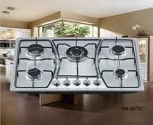 Hot sale 5 burner gas cooker hob with blue flame and aluminum burner for SALE!
