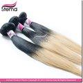 nuevo 2014 rubio de la llegada de dos tonos tejido mojado y ondulado ombre pelo brasileño