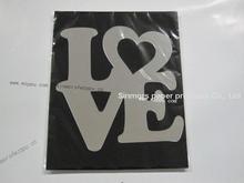 Mode argent love heart shaped miroirs muraux / réutilisable adhésif lettre sticker mural décoratif miroir