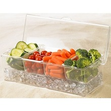 Durable acrylic condiment tray with ice room/Condiment Set
