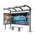 Outdoor-werbemittel billboard rahmen ed licht fotorahmen solaranlage wartehalle