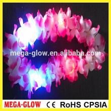 Fabric LED flashing hawaii flower necklace lei