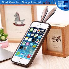 Cute Cartoon Rabbit TPU Bumper Case for iPhone 4G Soft TPU Bumper Case