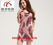 Christmas Sequins embroidery bead fitting dress for lady