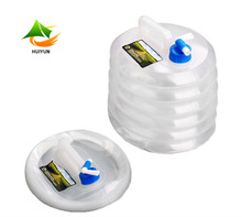Wholesale Outdoor Camping Water Storage PE Folding Bucket Plastic
