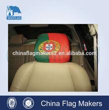 car seat head cover, custom car headrest cover, advertising car seat head flag
