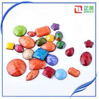 Flat back oem wholesale natural murano jewelry ad stone