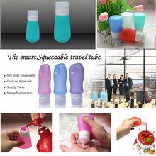 Silicone Plastic Canning Jars Silicone Mini Travel Bottle TSA Approved Plastic Canning Jars