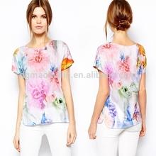 OEM service digital printing t Shirt manufacturer design women custom t-shirt