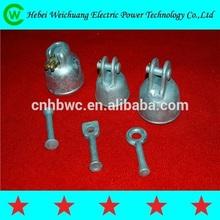 Insulator cap /pin ball/spring clip for insulator fitting