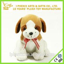 Dog plush toy sitting dogs with ribbon bow animal plush toy 2014 new product wedding decoration