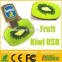 Custom Fruit Shape Kiwi USB Flash Stick Pen Drives 2.0 3.0 4GB 8GB 16GB