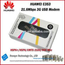 Brand New Original Unlock HSPA+ 21.6Mbps HUAWEI E353 3G Modem Support 900/2100MHz