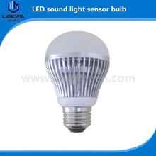 Long distance customize green 5w motion sensor e27 led bulb