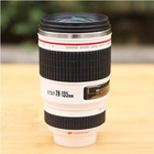 Love Camera Lens Cup Coffee Tea Travel Mug Stainless Steel Thermos Lens Lid