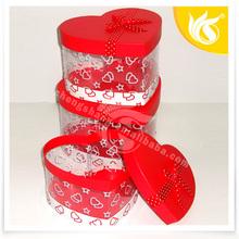 Wedding Decorations Red Heart Shape Fashion Custom Gift Box Wholesale